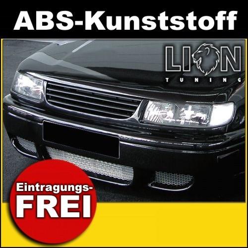 Für VW Passat 3B//B5 Frontgrill Sport Grill Kühlergrill Schwarz ohne Emblem 00